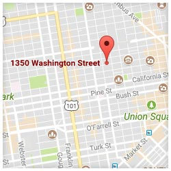 map of 1350 Washington Street