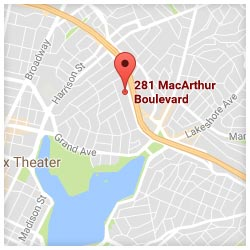 map of 281 Macarthur Boulevard