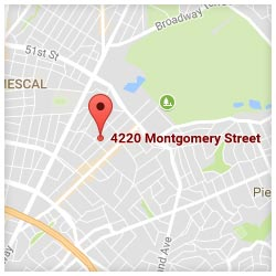 map of 4220 Montgomery Street