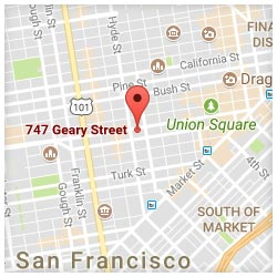 map of 747 Geary Street